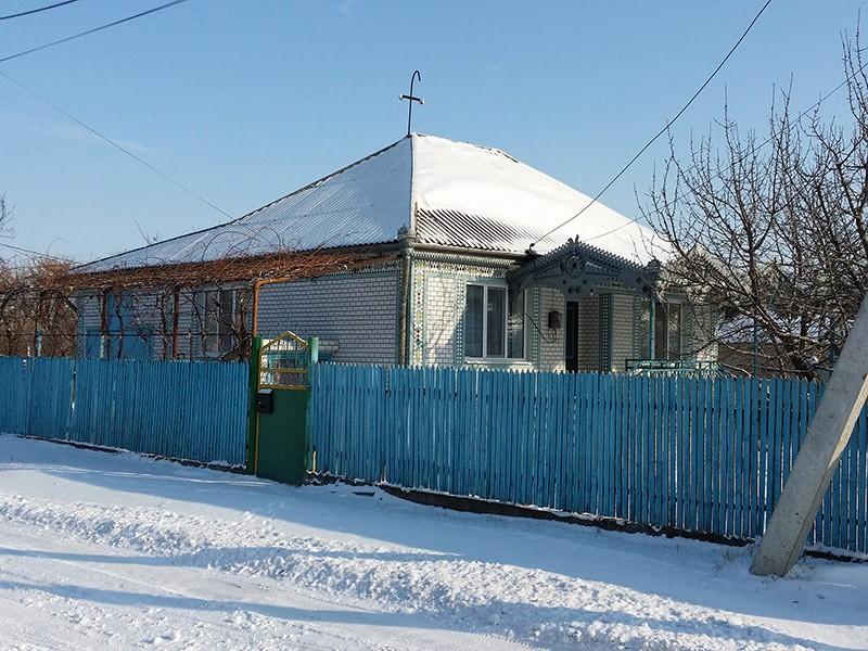 Typisches moldawisches Haus im Dorf Razeni