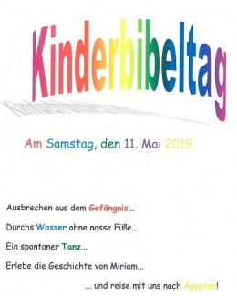 Flyer Kinderbibeltag