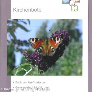 Kirchenbote Juni - August 2017