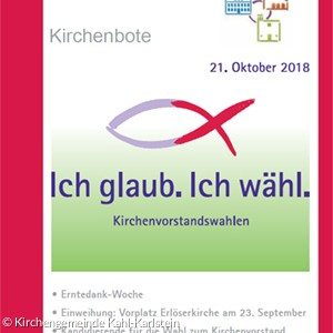 Kirchenbote | September / Oktober / November 2018